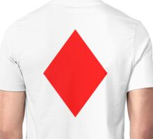 ACE, DIAMONDS, Cards, Game, Gang, Suit, Ace of Diamonds, Red Unisex T-Shirt