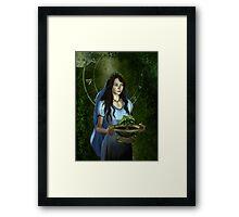 Virgo zodiac fantasy circle Framed Print