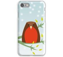 Robin in the snow iPhone Case/Skin
