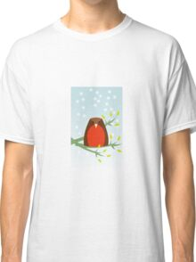 Robin in the snow Classic T-Shirt