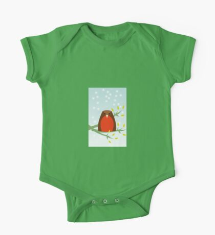 Robin in the snow One Piece - Short Sleeve