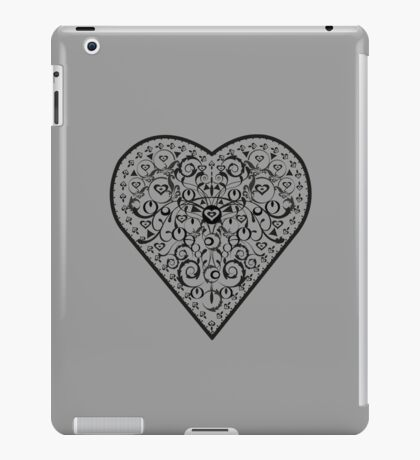 Black Iron Heart ipad iPad Case/Skin