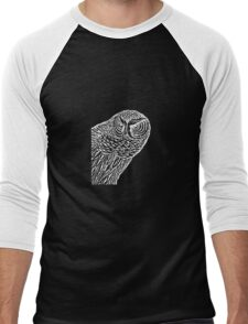 Owl Alert Men's Baseball ¾ T-Shirt