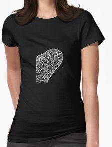 Owl Alert Womens Fitted T-Shirt