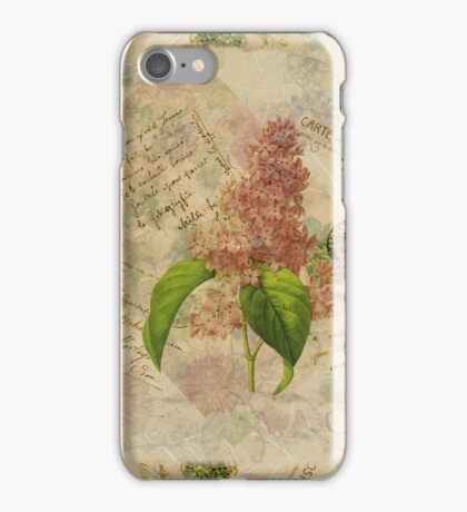 Decoupage lilac iphone iPhone Case/Skin