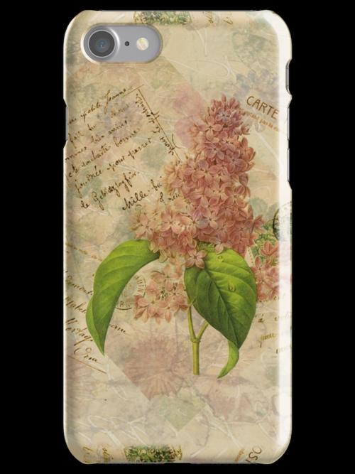 Decoupage lilac iphone by venitakidwai1
