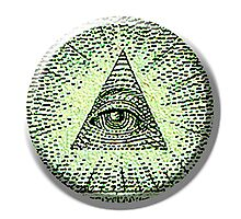 Eye of Providence, American, USA, Mystic, Dollar, Bill, Money, Freemasonry, All Seeing Eye, Pyramid, Masonic, America Photographic Print