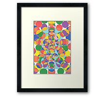 1104 - Colored Circles Vibrant and Alive Framed Print