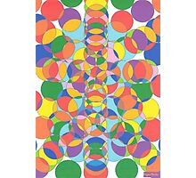 1104 - Colored Circles Vibrant and Alive Photographic Print