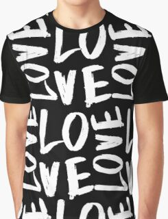 Love in Black&White Graphic T-Shirt
