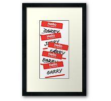 Parks and Rec: Jerry, Garry, Barry... Shirt Framed Print
