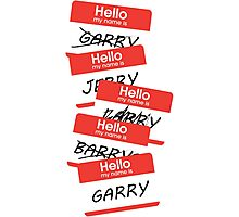 Parks and Rec: Jerry, Garry, Barry... Shirt Photographic Print