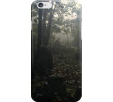 Misty graveyard iPhone Case/Skin