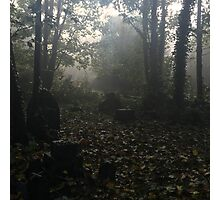 Misty graveyard Photographic Print