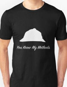 "Sherlock Holmes ""You Know My Methods"" (White) Unisex T-Shirt"