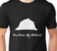"Sherlock Holmes ""You Know My Methods"" (White) Unisex T-Shirt"
