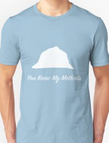"Sherlock Holmes ""You Know My Methods"" (White) T-Shirt"