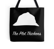 "Sherlock Holmes ""The Plot Thickens"" (White) Tote Bag"
