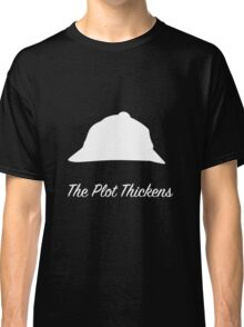 "Sherlock Holmes ""The Plot Thickens"" (White) Classic T-Shirt"
