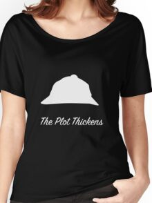 "Sherlock Holmes ""The Plot Thickens"" (White) Women's Relaxed Fit T-Shirt"