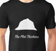 "Sherlock Holmes ""The Plot Thickens"" (White) Unisex T-Shirt"