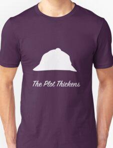"Sherlock Holmes ""The Plot Thickens"" (White) T-Shirt"