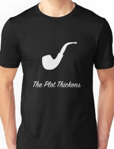 "Sherlock Holmes ""The Plot Thickens"" (2) (White) Unisex T-Shirt"