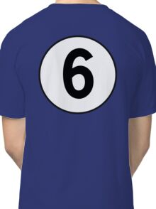 6, Sixth, Number Six, Number 6, Racing, Six, Competition, on Navy Blue Classic T-Shirt