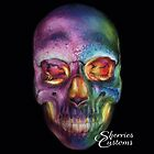 Psychedelic Skull Makeup by sherriescustoms