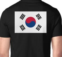 KOREA, KOREAN, South, Korean Flag, Flag of South Korea, Taeguk flag, Taegukgi, Taegeukgi, Pure & Simple, on BLACK Unisex T-Shirt