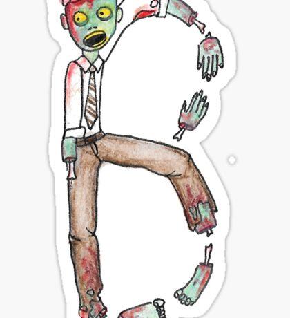 B is for Brains Sticker