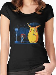 My Neighbour Pikachu Women's Fitted Scoop T-Shirt