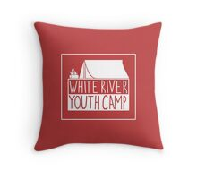 WRYC tent design (Red and White) Throw Pillow
