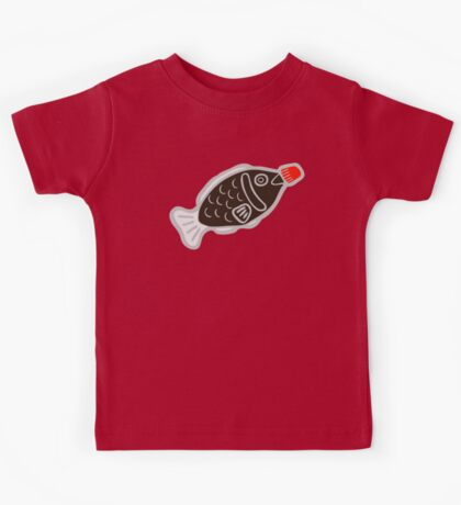 Sushi Soy Fish Pattern in Blue Kids Tee