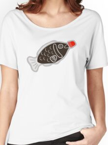 Sushi Soy Fish Pattern in Blue Women's Relaxed Fit T-Shirt