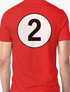 2, Two, Second, Number Two, Number 2, Racing, Competition, on Navy Blue T-Shirt