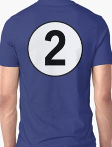 2, Second, Number Two, Number 2, Racing, Two, Competition, on Navy Blue T-Shirt