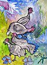 Guinea fowl  by Elizabeth Kendall