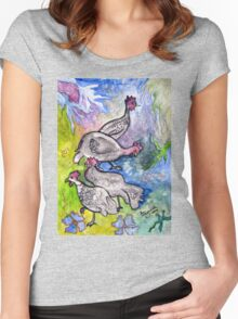 Guinea fowl  Women's Fitted Scoop T-Shirt