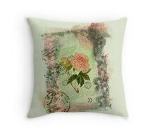 Decoupage peony 2 Throw Pillow