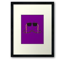 Hipster Mustache and Sunglasses Framed Print