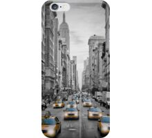 5th NYC Avenue Yellow Cabs iPhone Case/Skin
