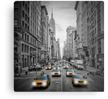 5th Avenue NYC Yellow Cabs Metal Print