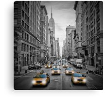 5th Avenue NYC Yellow Cabs Canvas Print