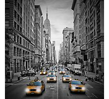 5th NYC Avenue Yellow Cabs Photographic Print