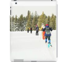 Snowshoe Water Color Affect iPad Case/Skin
