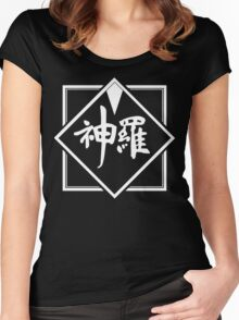 Shinra Logo (White) - Final Fantasy VII Women's Fitted Scoop T-Shirt
