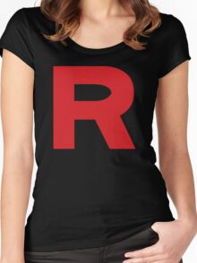 Team Rocket Logo Women's Fitted Scoop T-Shirt