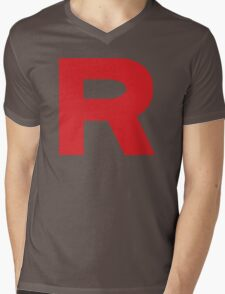 Team Rocket Logo Mens V-Neck T-Shirt