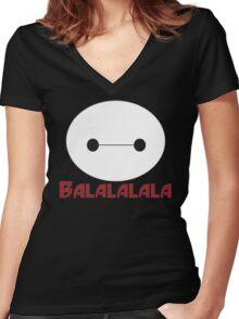 Fist Bump cute cartoon Women's Fitted V-Neck T-Shirt